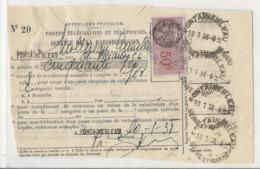 Service De La Radiodiffusion - Fontainebleau, 1938 - Carte D'auditeur - Timbre Fiscal 50 Cts - Poststempel (Briefe)