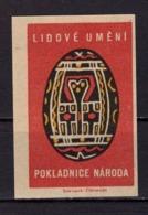 Tschechisches Zuendholzschachteletikett, Osterei (80301) - Zündholzschachteletiketten