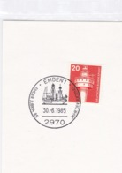 BRD Mi: 848 Leuchtturm. K Stempel:  2970 Emden.  Emder JUBRIA`85. Jahr Der Jugend. 30.6.1985 - Affrancature Meccaniche Rosse (EMA)