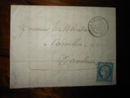 Lettre GC 4563 Le Poujol Herault Avec Correspondance - 1849-1876: Période Classique