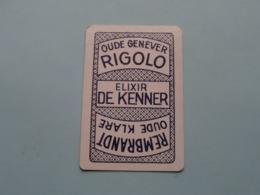 RIGOLO Oude Genever Elixir De Kenner REMBRANDT Oude Klare ( Ruiten 9 ) ( Details - Zie Foto's Voor En Achter ) ! - Playing Cards (classic)
