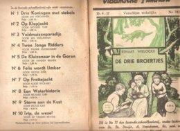 Vlaamsche Filmkens 342 De Drie Broertjes Renaat Wielockx 1937 GROOT FORMAAT: 16x23,5cm Averbode's Jeugbibliotheek - Oud