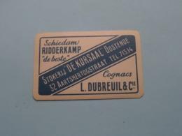 """Stokerij """" De KURSAAL """" Oostende / Ridderkamp / L. Dubreuil ( Schoppen 7 ) ( Details - Zie Foto's Voor En Achter ) ! - Speelkaarten"""