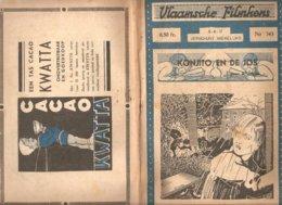 Vlaamsche Filmkens 343 Konjito En De Jos 1937 GROOT FORMAAT: 16x23,5cm Averbode's Jeugbibliotheek KWATTA - Livres, BD, Revues