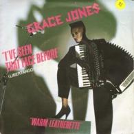 """GRACE JONES """"I'VE SEEN THAT FACE BEFORE - WARM LEATHERETTE"""" DISQUE VINYL 45 TOURS - Vinyl Records"""
