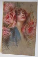 Künstlerkarten Frauen, Mode, Rosen,  1920 ♥ (33574)  - Künstlerkarten