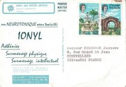 ST KITTS ET NEVIS  - IONYL- CROISIERE IONYL AUX PETITES ANTILLES - 1966 - ESCALE A SAINT-KITTS - FROISSURES. - St.Kitts-et-Nevis ( 1983-...)