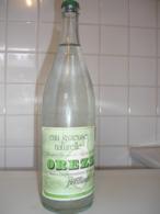 OREZZA Bouteille Verre Eau Minérale De 1995   Capsule Verte, étiquette Papier - Andere Flessen