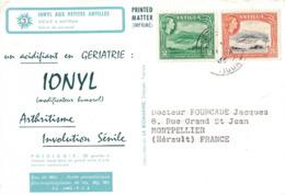 ANTIGUA  - IONYL- CROISIERE IONYL AUX PETITES ANTILLES - 1966 - ESCALE A ANTIGUA. - Antigua Et Barbuda (1981-...)