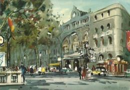 Gran Teatro Del Liceo Barcelona. Acuarela. - Barcelona