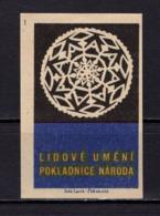 Tschechisches Zuendholzschachteletikett, Volkskunst Deckchen (80302) - Zündholzschachteletiketten