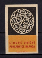 Tschechisches Zuendholzschachteletikett, Volkskunst Deckchen (80303) - Zündholzschachteletiketten