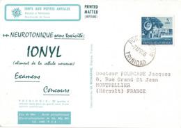 TRINIDAD - IONYL- CROISIERE IONYL AUX PETITES ANTILLES - 1966 - ESCALE A TRINIDAD. - Trinité & Tobago (1962-...)