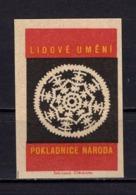 Tschechisches Zuendholzschachteletikett, Volkskunst Deckchen (80304) - Zündholzschachteletiketten