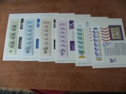 6 Documents De La Poste Journée Du Timbre 1986 à 1991 Carnets - Documents Of Postal Services
