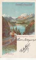 GR ***  Illustrateur  ****  Chemin De Fer De L'Est Haute Engadine St Moritz - Authenthique Timbrée TTB - GR Graubünden