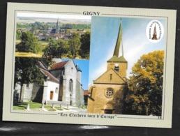 89: Gigny, Le Clocher Tors D'Europe (flèche Tors De 30m) Recto / Verso - Autres Communes