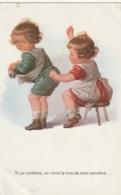 GR ***  Illustrateur    Enfants Si ça Continue Onverra Le Trou De Mon Pantalon - Timbrée TTB - Cartes Humoristiques