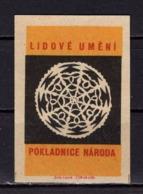 Tschechisches Zuendholzschachteletikett, Volkskunst Deckchen (80306) - Zündholzschachteletiketten
