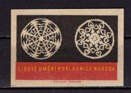Tschechisches Zuendholzschachteletikett, Volkskunst Deckchen (80307) - Zündholzschachteletiketten