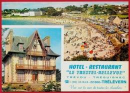 """CPM Multivues 22 TRELEVERN - Hôtel-Restaurant """"LE TRESTEL-BELLEVUE"""" TREVOU TREGUIGNEC - Autres Communes"""