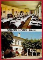 """CPM 2 Vues 83 COMPS-sur-ARTUBY Var - """"Grand Hôtel BAIN"""" - Le Restaurant, Un Coin De La Terrasse ° Edit. Tardy - Comps-sur-Artuby"""