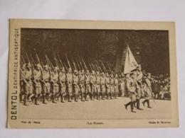 CARTE POSTALE MILITAIRE-LES RUSSES CARTE PUBLICITAIRE DENTOL-ANIMEE - Guerre 1914-18