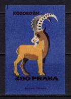 Tschechisches Zuendholzschachteletikett, Steinbock (80313) - Zündholzschachteletiketten