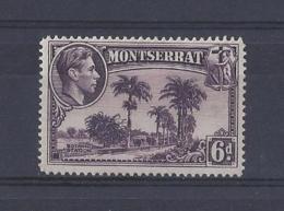 MONTSERRAT.....KING GEORGE VI,(1936-52).....6d........SG107a............MH... - Montserrat