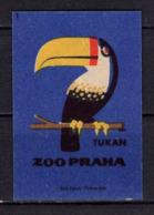 Tschechisches Zuendholzschachteletikett, Tukan (80314) - Zündholzschachteletiketten