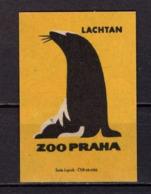 Tschechisches Zuendholzschachteletikett, Seeloewe (80315) - Zündholzschachteletiketten