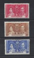 "MONTSERRAT.....KING GEORGE VI,(1936-52)..."" OMNIBUS ""...CORONATION SET OF 3...MH. - Montserrat"