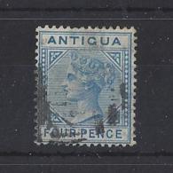 ANTIGUA.....QUEEN VICTORIA.(1837-01)...4d.......SG23.....USED... - 1858-1960 Colonie Britannique