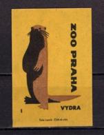 Tschechisches Zuendholzschachteletikett, Otter (80318) - Zündholzschachteletiketten