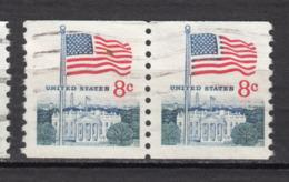 ##2, USA, (8¢) BOBINO, COIL, Roulette, Drapeau, Flag, Maison Blanche, White House - Coils & Coil Singles
