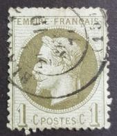 1863-1870, Emperor Napoléon Lll, 1c, Empire Française, France - 1863-1870 Napoléon III Lauré