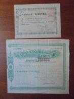 ANGLETERRE, 1914 - AUTOMOBILES : CHARRON LIMITED - LOT DE 2 TITRES DIFFERENTS, VOIR SCANS - Acciones & Títulos