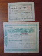ANGLETERRE, 1914 - AUTOMOBILES : CHARRON LIMITED - LOT DE 2 TITRES DIFFERENTS, VOIR SCANS - Sin Clasificación