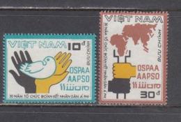 Vietnam 1987 - 30e Anniversaire De L'OSPAA, Mi-Nr. 1849/50, Dent., MNH** - Vietnam