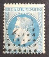 1863-1870, Emperor Napoléon Lll, 20c, Bleu, France, Empire Française - 1863-1870 Napoléon III Lauré