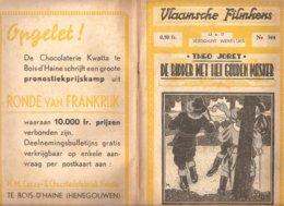 Vlaamsche Filmkens 344 De Ridder Met Het Gouden Masker T. Joret 1937 GROOT FORMAAT: 16x23,5cm Averbode's Jeugbibliotheek - Livres, BD, Revues