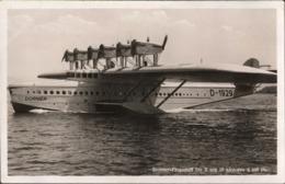 ! Alte Ansichtskarte Wasserflugzeug, Dornier Flugschiff Do X, D-1929, Seaplane - 1919-1938: Between Wars
