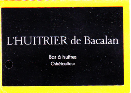 Bar à Huitres, Ostréiculteur, L'HUITRIER De Bacalan, Bordeaux, 33 Gironde - Cartes De Visite