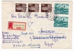 Lettre Recommandée Budapest 1969 Hongrie Suisse Saint-Moritz Magyarország Hungary Luzern Magyar Posta - Hungary