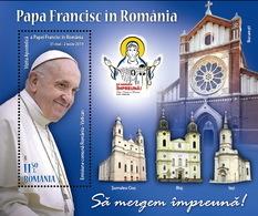 Romania - Vatican / Pope Francisc In Romania / S/S - 1948-.... Republics