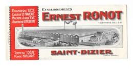 Buvard Publicitaire - Etablissements Ernest Ronot - Carte Assorbenti