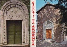 FERRARA - Saluti Da Argenta - Portale E Pieve Romanica Di S.Giorgio - 2 Vedute - 1984 - Ferrara