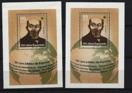 DDR - Block Nr. 87 X 2 - 100 Jahre Esperanto Postfrisch - [6] República Democrática