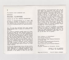 DOODSPRENTJE CLARYSSE RACHEL WEDUWE PARMENTIER ROLLEGEM - KAPELLE ROESELARE (1908 - 1975) - Devotion Images
