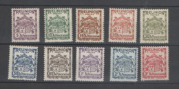 REUNION TAXES Yv 16/25 XX MNH - - Reunion Island (1852-1975)